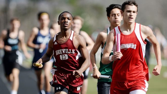 The Buncombe County track meet was held Wednesday at Asheville High.