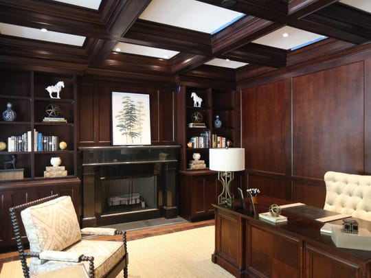 The den in one of the completed homes at Greystone on Hudson, a new high-end gated community on 100 acres in Tarrytown, photographed June 4, 2015.