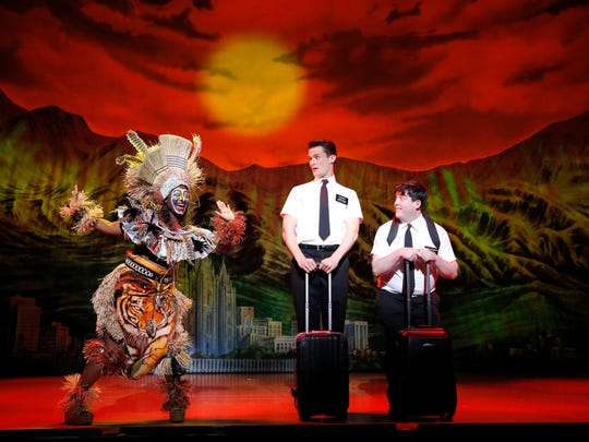"""Broadway's """"The Book of Mormon"""" is about two missionaries from Salt Lake City dealing with culture shock (and then some) in Uganda."""