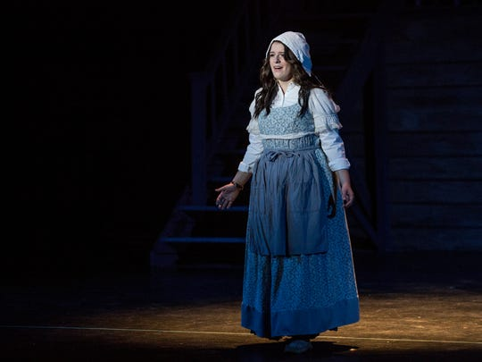 Bella Ward performs as Fantine during dress rehearsal