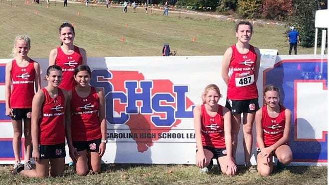 The Wade Hampton High School Cross Country State Qualifiers.