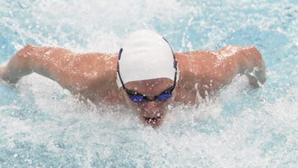 2013-14 Pittsford freestyle swimmer PJ Ransford