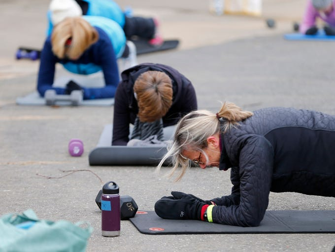 Certified personal trainer Mary Kiningham runs an