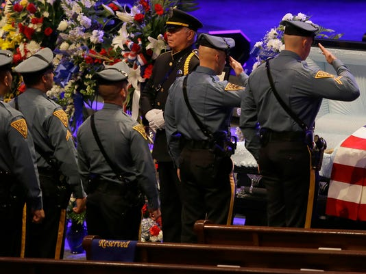 AP POLICE SHOOTINGS FUNERAL A USA TX