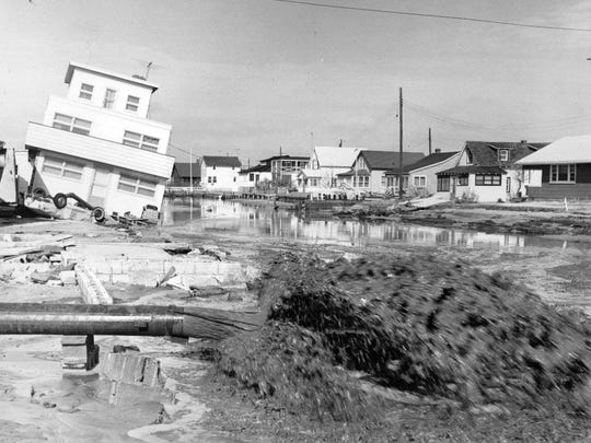 This is 79th Street in Harvey Cedars, as it appeared