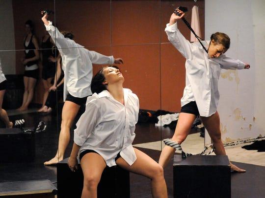 """Kaleidoscope"" cast members rehearse Sunday at the"