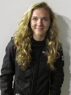 Karen Jordensen, 21, a Stockbridge, Georgia resident, won the Pro Trucks champonship last year at Five Flags Speedway. She makes her debut in a Pro Late Model car Friday night at Five Flags.