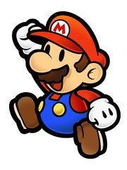 "Mario from ""Paper Mario."""