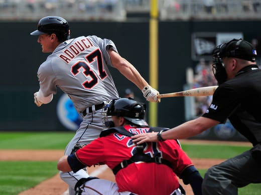 tigers jacoby jones placed on disabled list after taking pitch to face