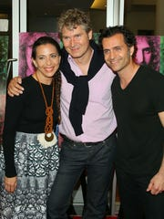 """Moon Zappa, Thorsten Schutte and Dweezil Zappa attend the """"Eat That Question: Frank Zappa in His Own Words"""" premiere in Hollywood, Calif, on June 13, 2016."""