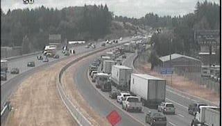 A crash on Interstate 5 in Salem slowed traffic Monday afternoon.