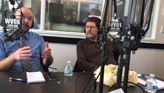 David Robinson and Jon Bandler at WVOX