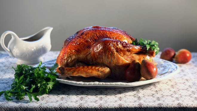 A pomegranate glazed turkey is a beauty. There are lots of solutions if you are behind in your Turkey Day preparations.