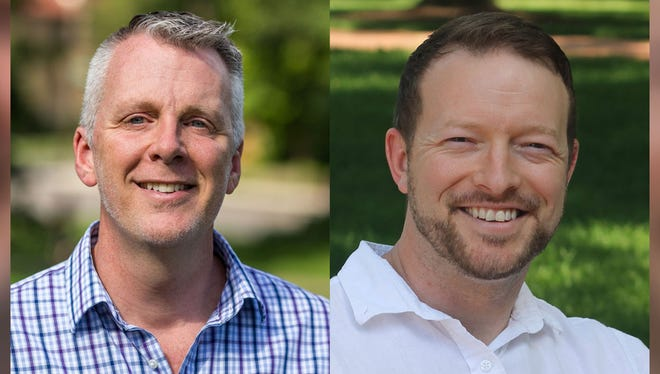 Rick Neal, left, and Rob Jarvis are running for the Democratic nomination for the 15th Congressional District.