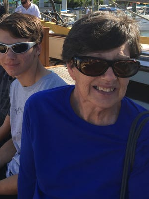 My mom, Mary Smith, right, with my son, Logan Hayford, on a recent sailing cruise.