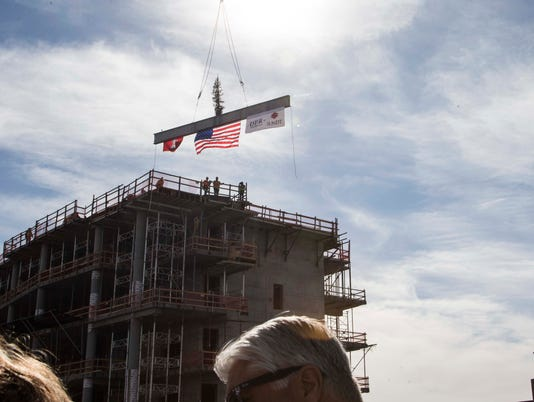 Topping off the building