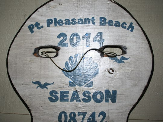 Beach-Badge Sign (any town): $89.