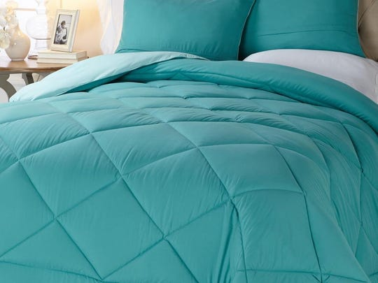 Concierge Collection Reversible Diamond Quilted Down Alternative Comforter