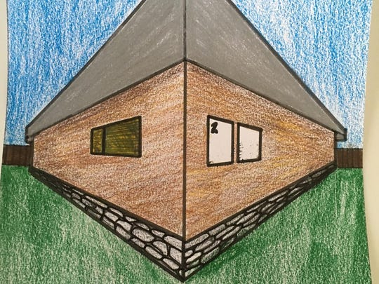Lucy Stark created this concept drawing for the shed that is to be auctioned off at the March 25 fundraiser.