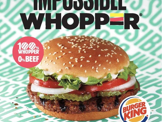 An ad for Burger King's new Impossible Whopper.