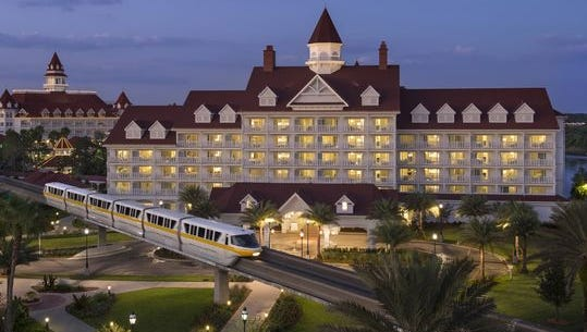 The Grand Floridian Resort & Spa, located within walking distance of a monorail ride to Magic Kingdom Park.