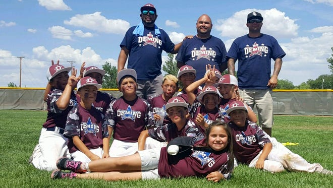 The Deming Little League Minor Division (ages 8-10) are one of four teams in the state of New Mexico still competing for a Little League State Championship. The team survived an eight-team elimination bracket and will now play Friday through Monday in a bracket with teams from Roswell, Carlsbad and Belen. The tournament champion will advance to regional competition.