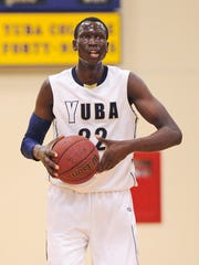 Yuba College's Emmanuel Malou plays against Napa Valley in a Jan. 17, 2015, game in Marysville, Calif. The Iowa State recruit is waiting to hear from the NCAA on whether he'll be academically cleared to play for the Cyclones in the fall.