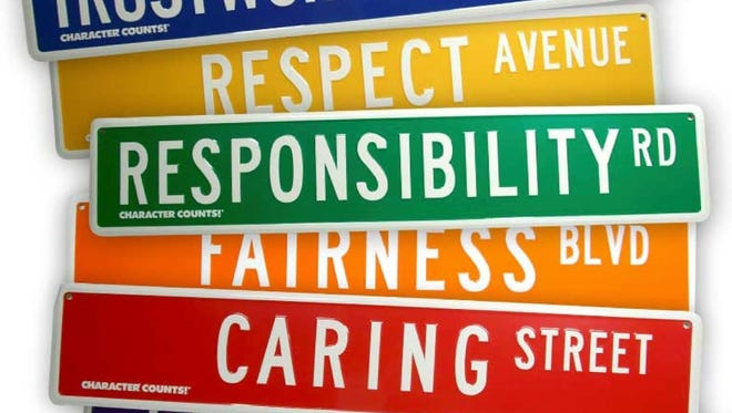 These six attributes are recognized in United Way's CHARACTER COUNTS! program.
