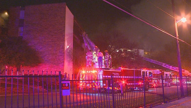 Two people were killed and three people were injured in an early-morning blaze at the Gatewood Apartments, an assisted living center in Dallas on Dec. 10, 2014.