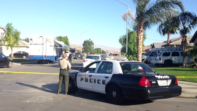At about 11:30 a.m. an unidentified man was shot by a Riverside County sheriff's deputy in Coachella, according to spokesman Sgt. Mike Manning.