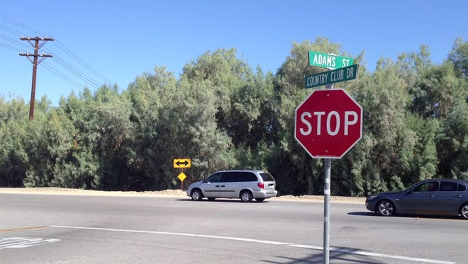 The driver was going east on Country Club Drive when she collided with a car that was going west at Adams Street, according to the California Highway Patrol.