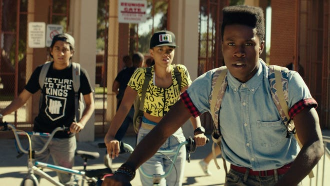 "Shameik Moore plays Malcolm, a nerd growing up in a tough neighborhood, in ""Dope."""