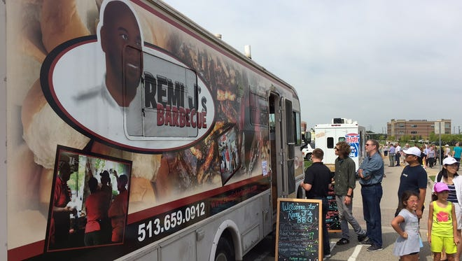 From BBQ to waffles to Cuban sandwiches, hundreds queued up early Friday for West Chester's popular Food Truck Rally.