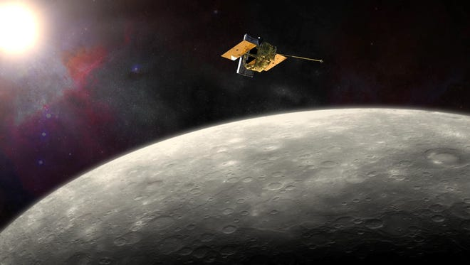 NASA's MErcury Surface, Space ENvironment, GEochemistry, and Ranging (MESSENGER) spacecraft traveled more than 61/2 years before it was inserted into orbit around Mercury on March 18, 2011.