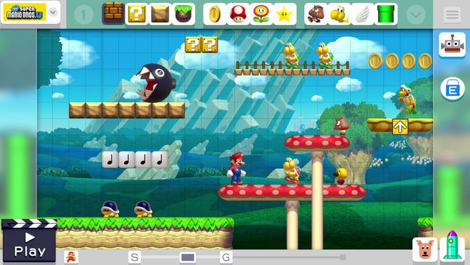 "Create levels and share them with the world in ""Super Mario Maker"" for the Wii U."