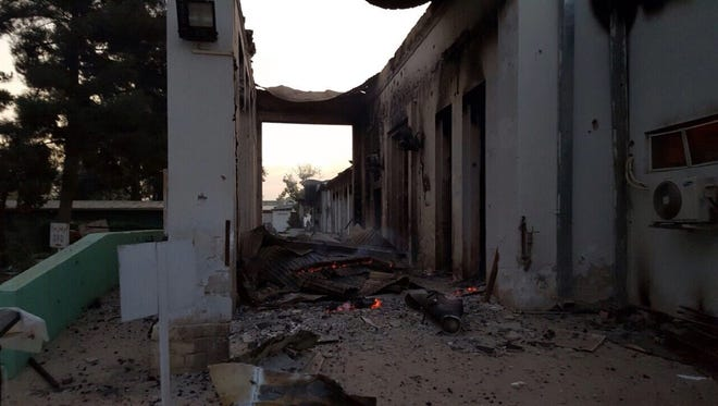 A photo provided by Doctors Without Borders shows destroyed parts of a hospital in Kunduz, Afghanistan, after bombings on Oct. 3, 2015.