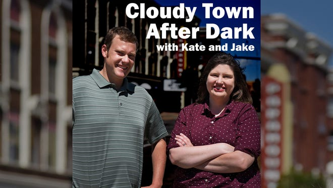 Cloudy Town After Dark