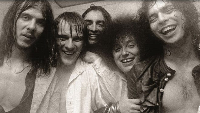 Grande Ballroom house band the MC5, with (from left) Fred Smith, Dennis Thompson, Michael Davis, Rob Tyner and Wayne Kramer.