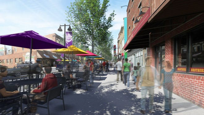 The State Street master plan envisions sidewalk cafe-like settings in the village. Two developers proposals were opened Monday to turn the vision into reality.