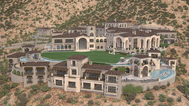Plans called for this north Scottsdale house to have 100,000 square feet.