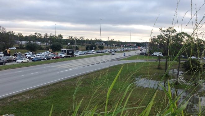 Daniels Parkway was closed in both directions from Six Mile Cypress to Eagle Ridge Drive for hours Monday because of a hit-and-run crash.