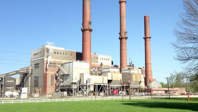 Indianapolis Power & Light  Co. Eagle Valley Generating Station along White River near Martinsville. It opened in 1949 and will be replaced with a gas turbine plant opening in 2017.
