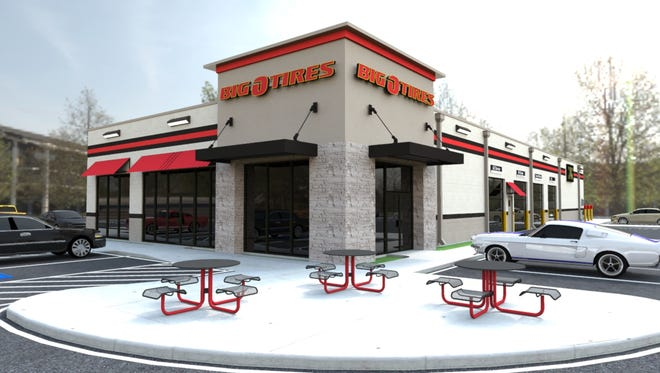 A rendering of the new Big O Tires location coming to Allison Lane in Jeffersonville.