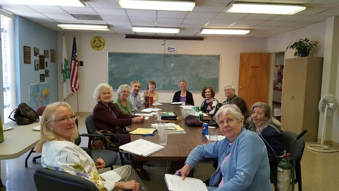 The board of directors of Catch the Spirit of Appalachia met recently, including, from left, Sylva Lyday-GoForth, Doreyl Ammons Cain, Roy Owenby, Gail Stillwell Cooper, Heather Gordon, Jenny Johnson, Neal Hearn, Karen Branscome  and Etheree Chancellor. Member not present were Betty Brown, Nicole Gunn, Nita Owenby, Terry Michelsen, Nikki Henke and Amy Ammons Garza.