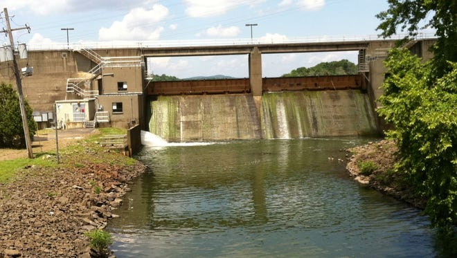 The Lake DeForest reservoir dam in West Nyack.