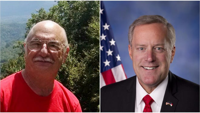 U.S. House candidates Rick Bryson, left, and Mark Meadows