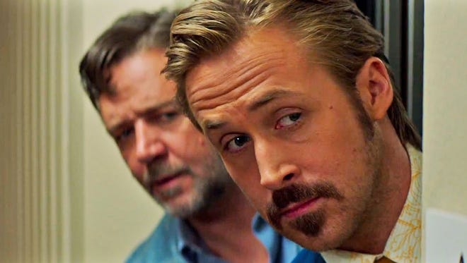 """Russell Crowe and Ryan Gosling are unlikely partners in """"The Nice Guys."""""""