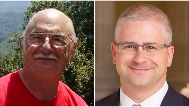 Rick Bryson, left, and Patrick McHenry won Western North Carolina U.S. House primaries Tuesday.