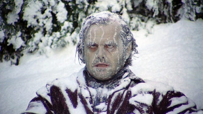 "Forgive us for looking at this image of Jack Nicholson in 1980's ""The Shining"" and feeling a little envious about the cold weather."