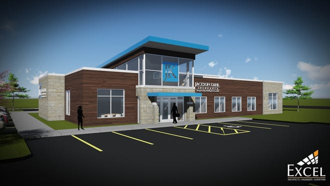 A rendering of Jackson Kahl's new building in Fond du Lac, planned for the corner of North Pioneer Road and Forest Avenue.